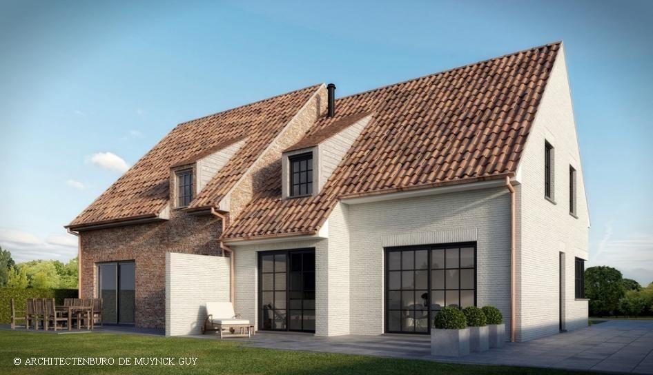 Woningen gezinswoningen villa 39 s architectenburo de muynck for Halfopen bebouwing te koop